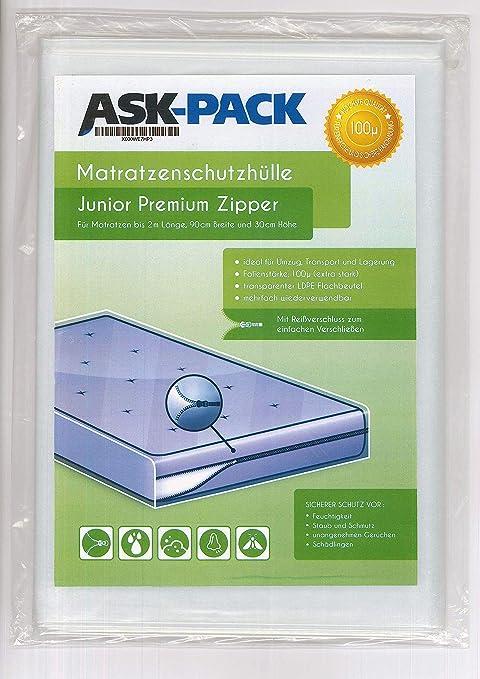 ASK Pack Bolsa de Colchón Premium Single - con Cierre Cremallera - para Colchónes de 90cm