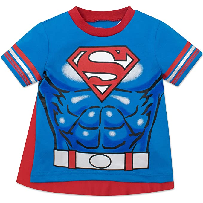 16068ca99 Superman Toddler Boys' T-Shirt with Cape, Blue (5T): Amazon.ca ...