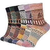 Bearbro Calcetines de Lana,6 Pares Calcetines Mujer Calcetines de Lana Cálidos de Confort Casual de Mujer de Invierno…