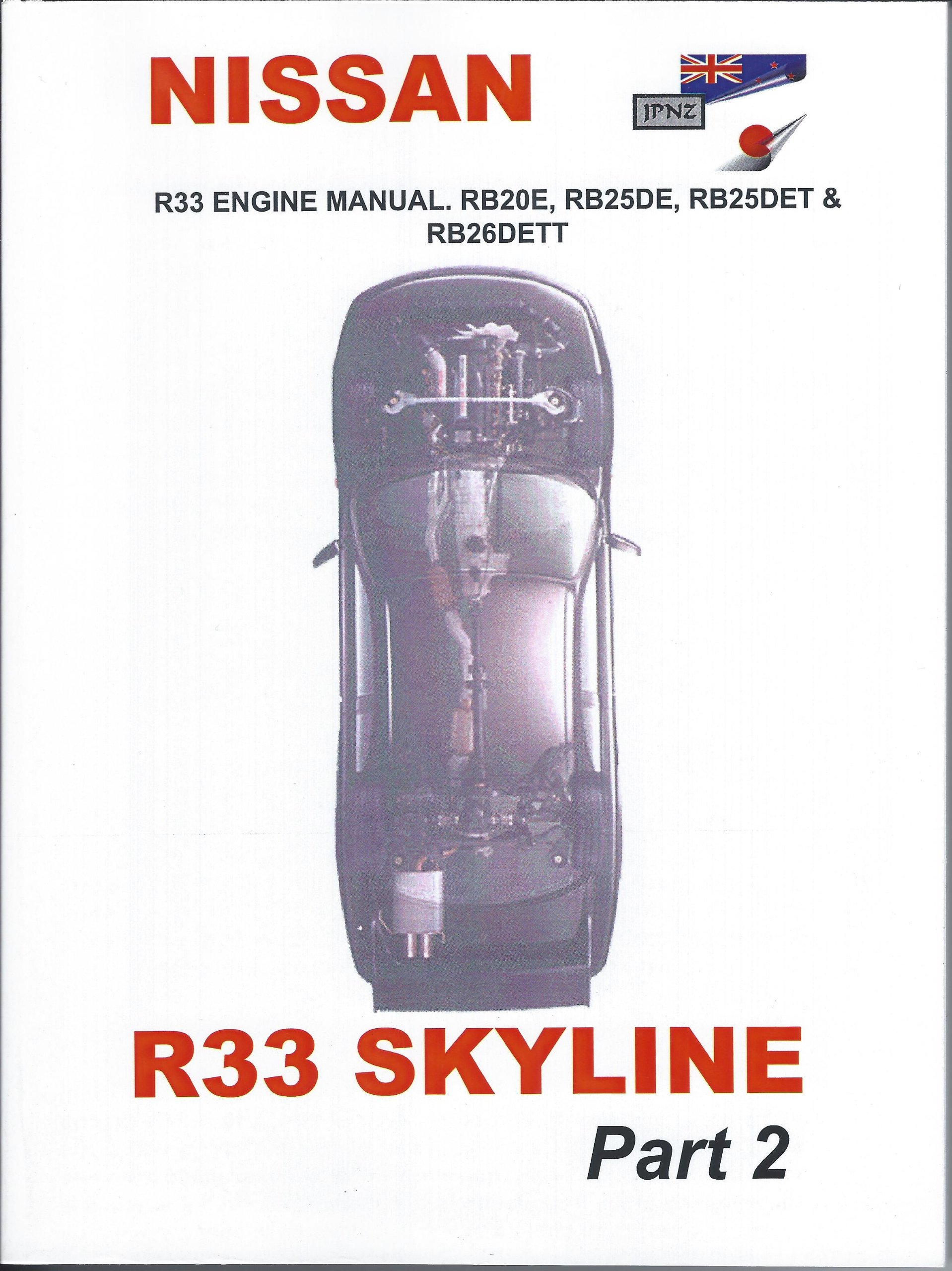Nissan R33 Skyline Engine Manual Parts 1 & 2 (engines RB20E, RB25DE,  RB25DET & RB26DETT): Amazon.co.uk: JPNZ International Ltd: Books