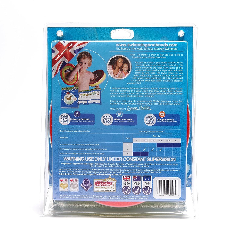 Amazon.com : Monkey Swimmers Swimming Armbands : Swim Floatation ...