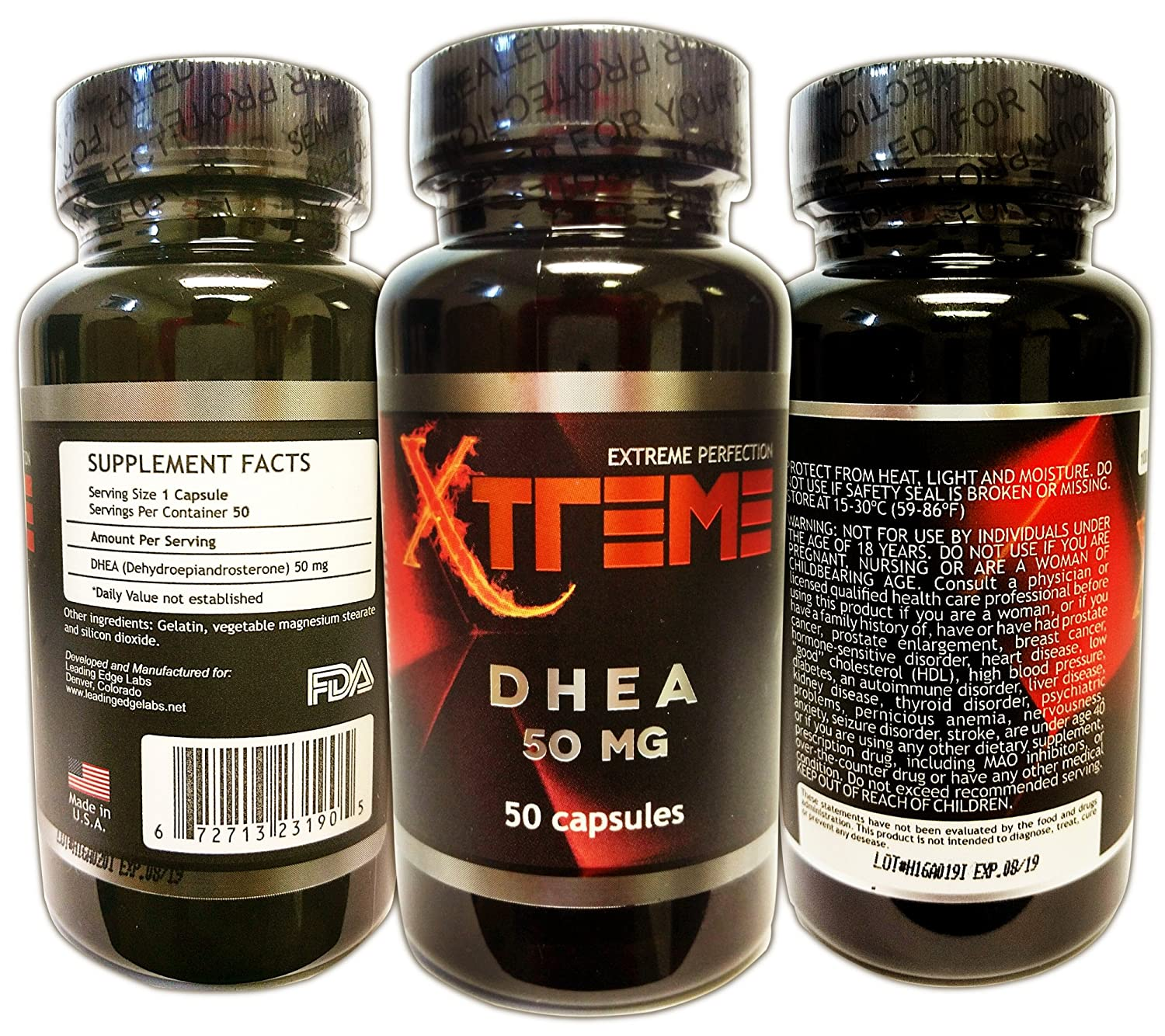 Amazon.com: DHEA 50 mg Ultimate Nutrition Supplement To Promote Balanced Hormone Levels For Men & Women - Look & Feel Younger - Free Shipping: Health ...