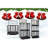 """New 37"""" Homey Pet Open Top Heavy Duty Dog Pet Cage Kennel w/ Tray, Floor Grid, and Casters (37"""" Plastic Grid)"""