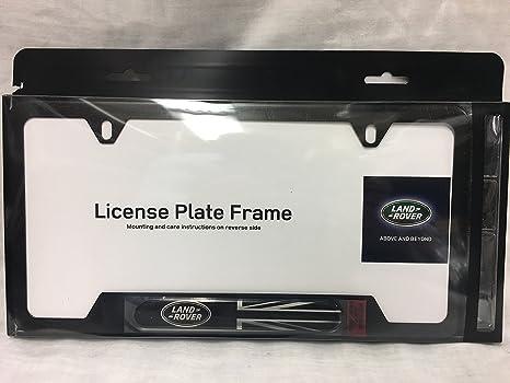 Amazon.com: Genuine Land Rover Black Jack License Plate Frame ...