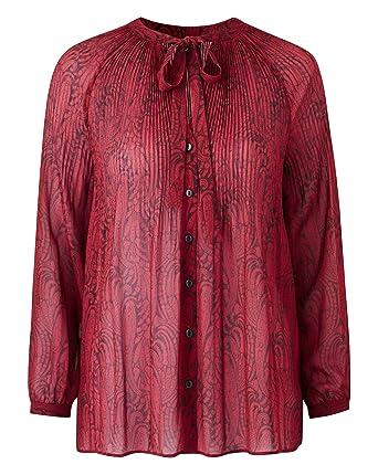 a6c36a84ecc23b JD Williams Womens Pleat Pussybow Blouse: Amazon.co.uk: Clothing