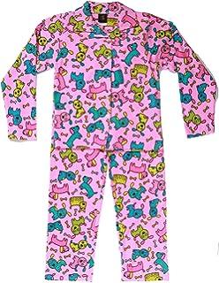 6037183ae263 Amazon.com: Girls Pink Monkey & Snowman Pajamas Christmas Holiday ...