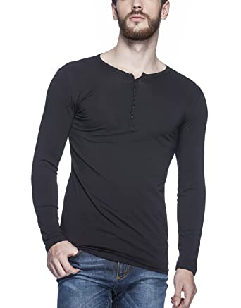 62b8414a Tinted Men's Cotton Lycra Henley T-Shirt: Amazon.in: Clothing ...