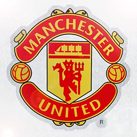 Manchester united official football gift car window sticker crest rrp ú3 99