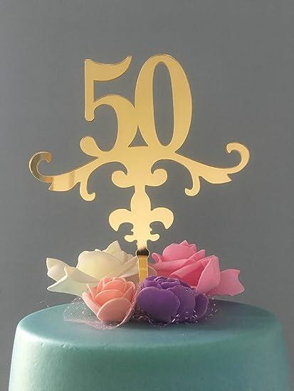 Amazon Com Shinybeauty Birthday Cake Topper Numbers Anniversary
