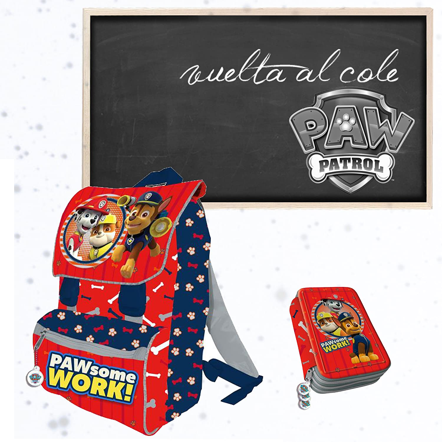 Plumier Patrulla Canina Paw Some Work Triple