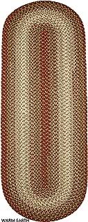 product image for Rhody Rug Ellsworth Indoor/Outdoor Reversible Braided Runner Rug by (2' x 6') Brown/Beige