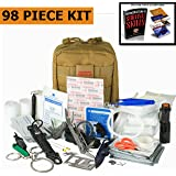 Emergency Survival Kit | Ultimate 98-in-1 Outdoor Multi-Tools for Camping, Hiking, Hunting & Fishing | First Aid Supplies | All Inclusive Survival Gear with Box for Campers & Preppers