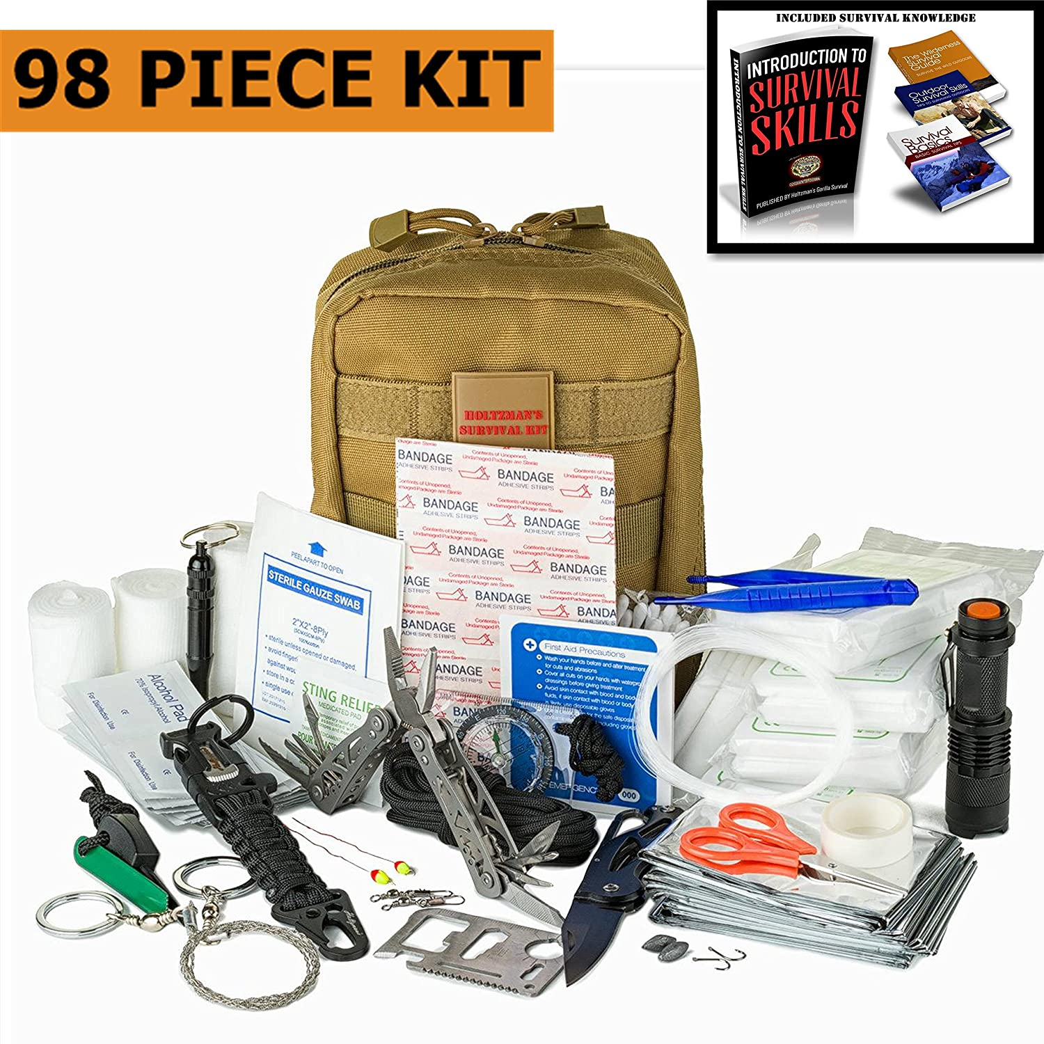 Emergency Survival Kit | Ultimate 98-in-1 Outdoor Multi-Tools for Camping, Hiking, Hunting & Fishing | First Aid Supplies | All Inclusive Survival Gear with Box for Campers & Preppers #1 BEST