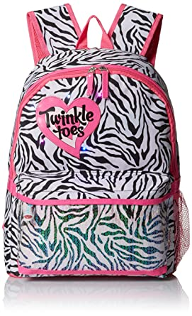 Amazon.com: Skechers Girls' Neo Zebra Backpack, Black/White, One ...