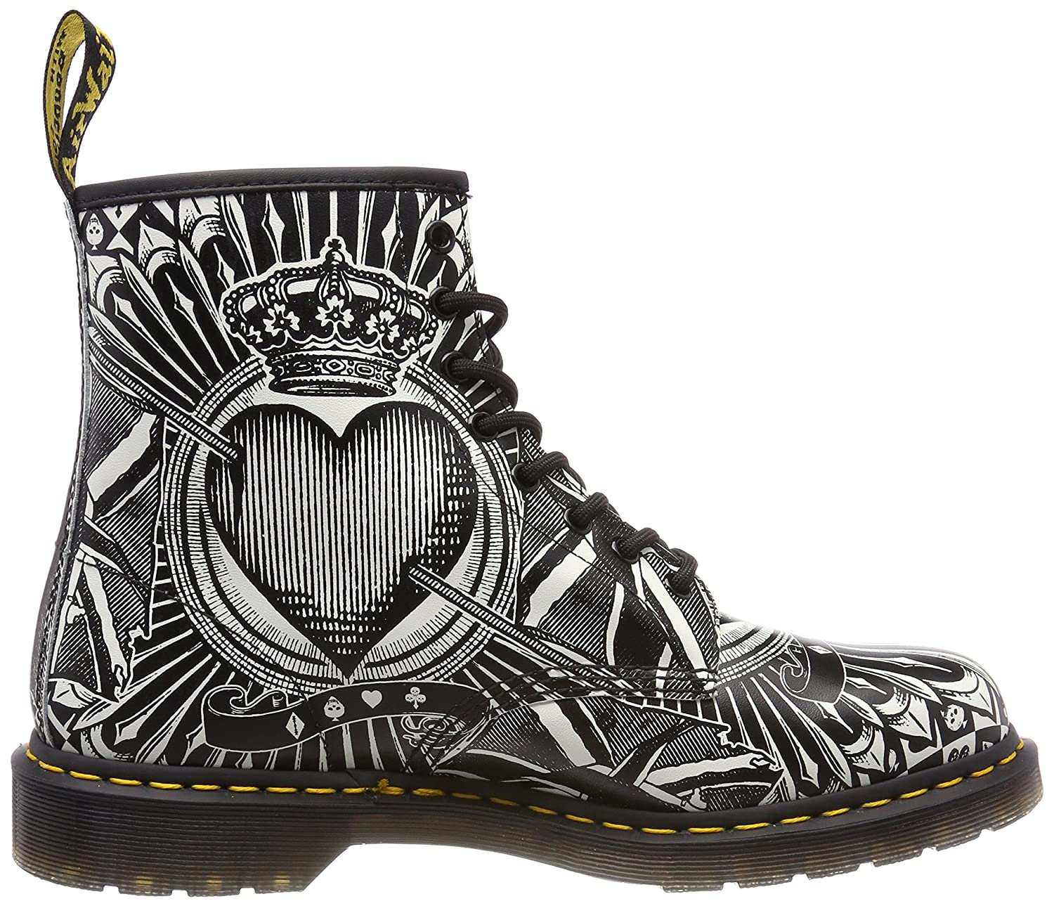 1461, Derbys Mixte Adulte, Multicolore (Egret Playing Card Print 112), 37 EUDr. Martens