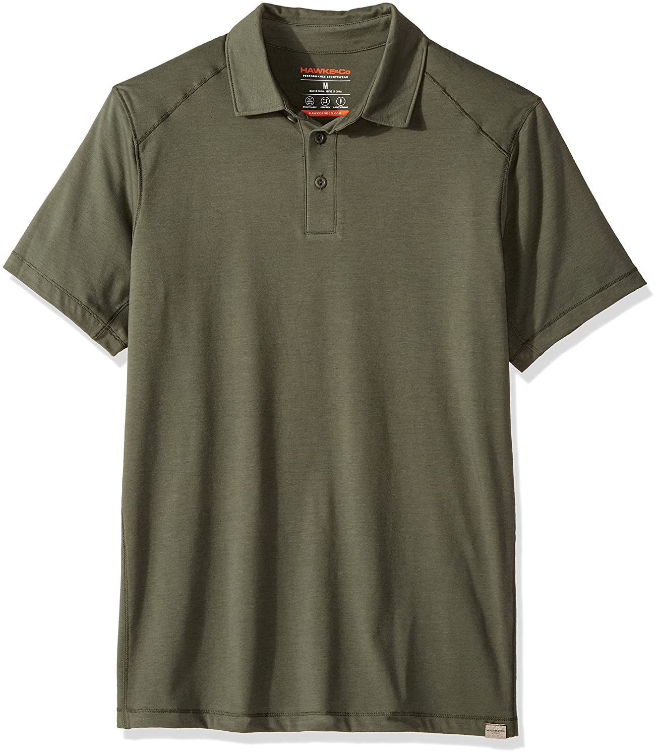 Hawke /& Co Mens Short Sleeve Cotton Touch Polo