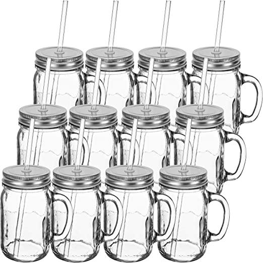 Redneck Sipper Drinking Jar 16oz Authentic Ball Mason Jar Reusable Acrylic Straw