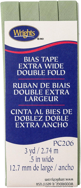 Wrights Sage Double Fold Bias Tape 1//2 X3yd