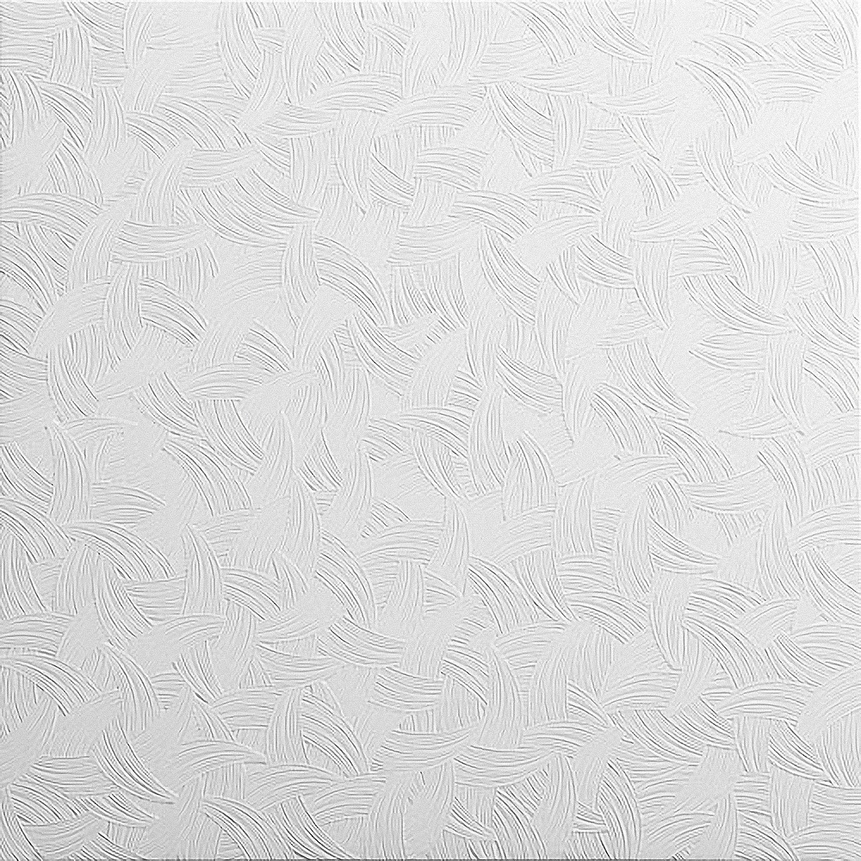 Decorative Laminated Polystyrene Ceiling Tiles Panels Tango White (48 pcs / 12 sqm) Kaseton
