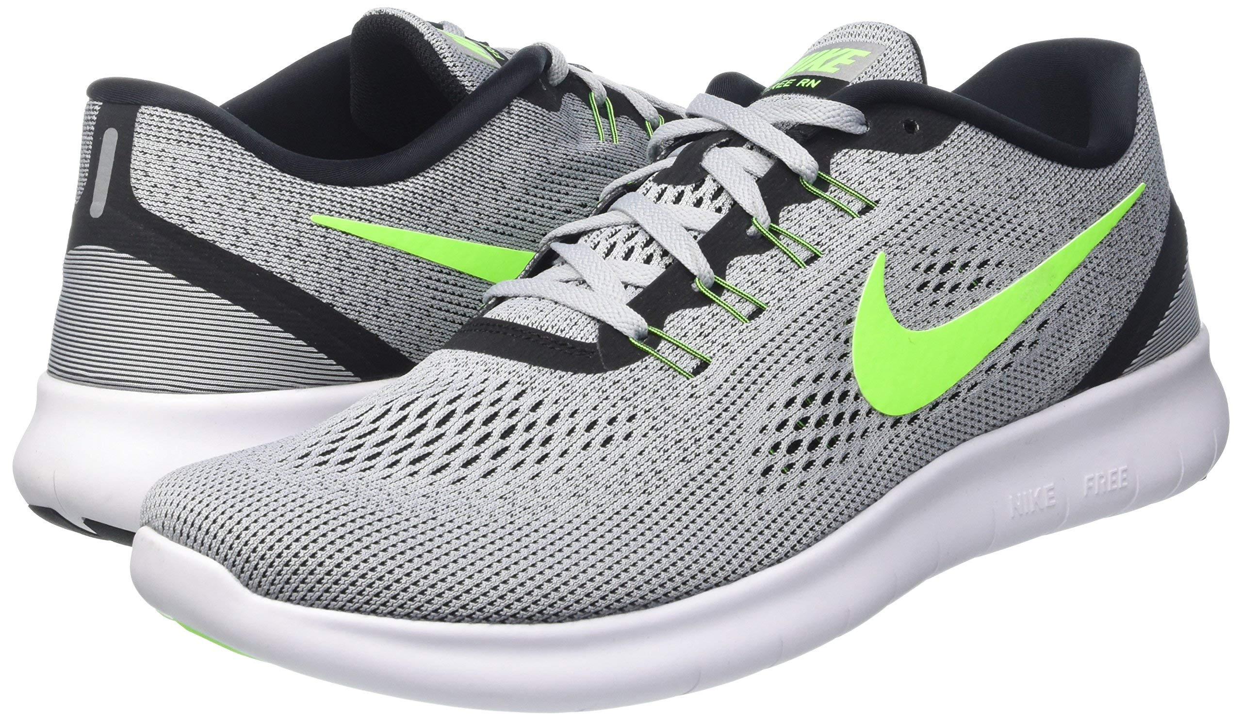Nike Mens Free Rn Pure Platinum/Elctrc Grn/Anthracite Running Shoe 8 Men US by Nike (Image #8)