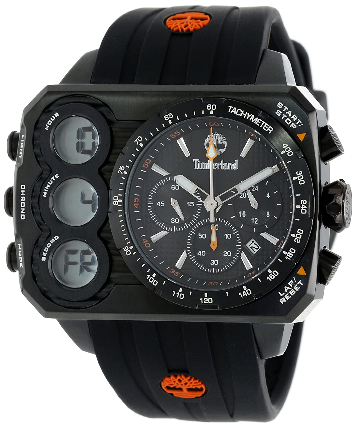 Amazon.com: Timberland Mens TBL_13673JSB_02S Ht3 Digital Chronograph 3 Hands Date Watch: Watches
