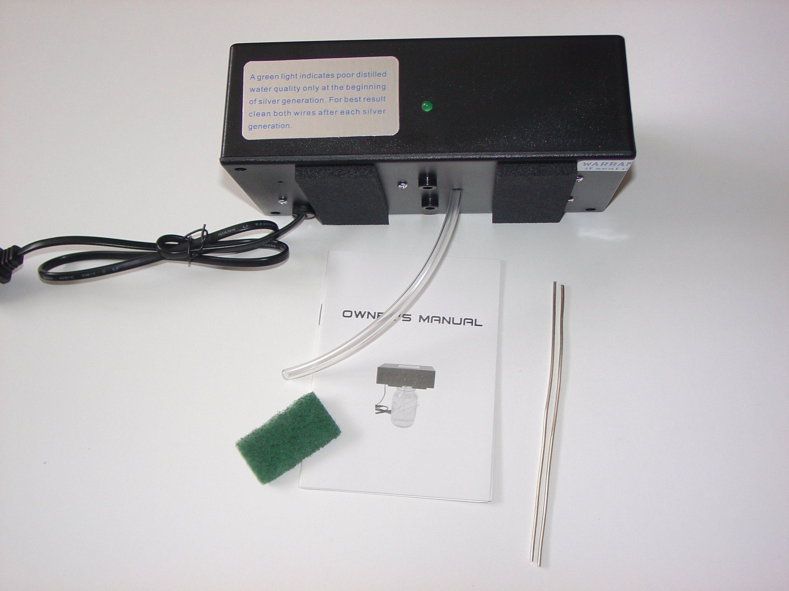 Nano Particle Colloidal Silver Generator 105-127V (Black) by colloidal silver generator.biz (Image #4)