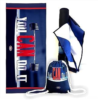[oferta limitada] microfibra toalla grande 160 x 80 cm + cordón bolsa de deporte