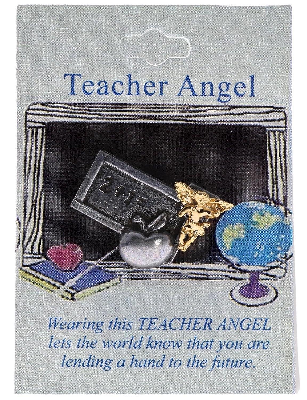 Teacher Guardian Angel Lucky Charm Hat or Lapel Pin H001D133