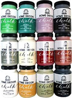 folkart home decor chalk paint set 8 ounce promo845 12 pack - Home Decor Chalk Paint