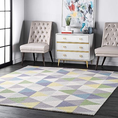 nuLOOM Bianca Triangles Wool Area Rug
