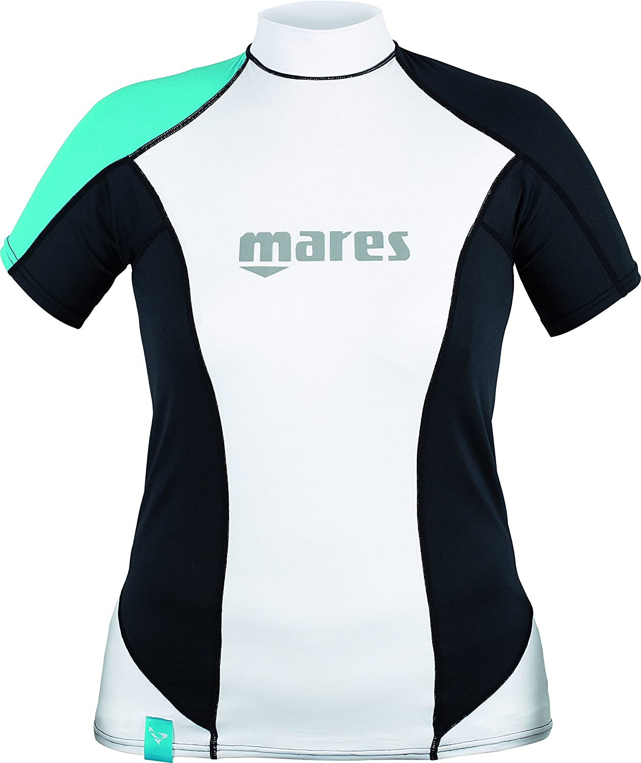 Short Sleeve Mares Womens She Dive Rash Guard Loose Fit