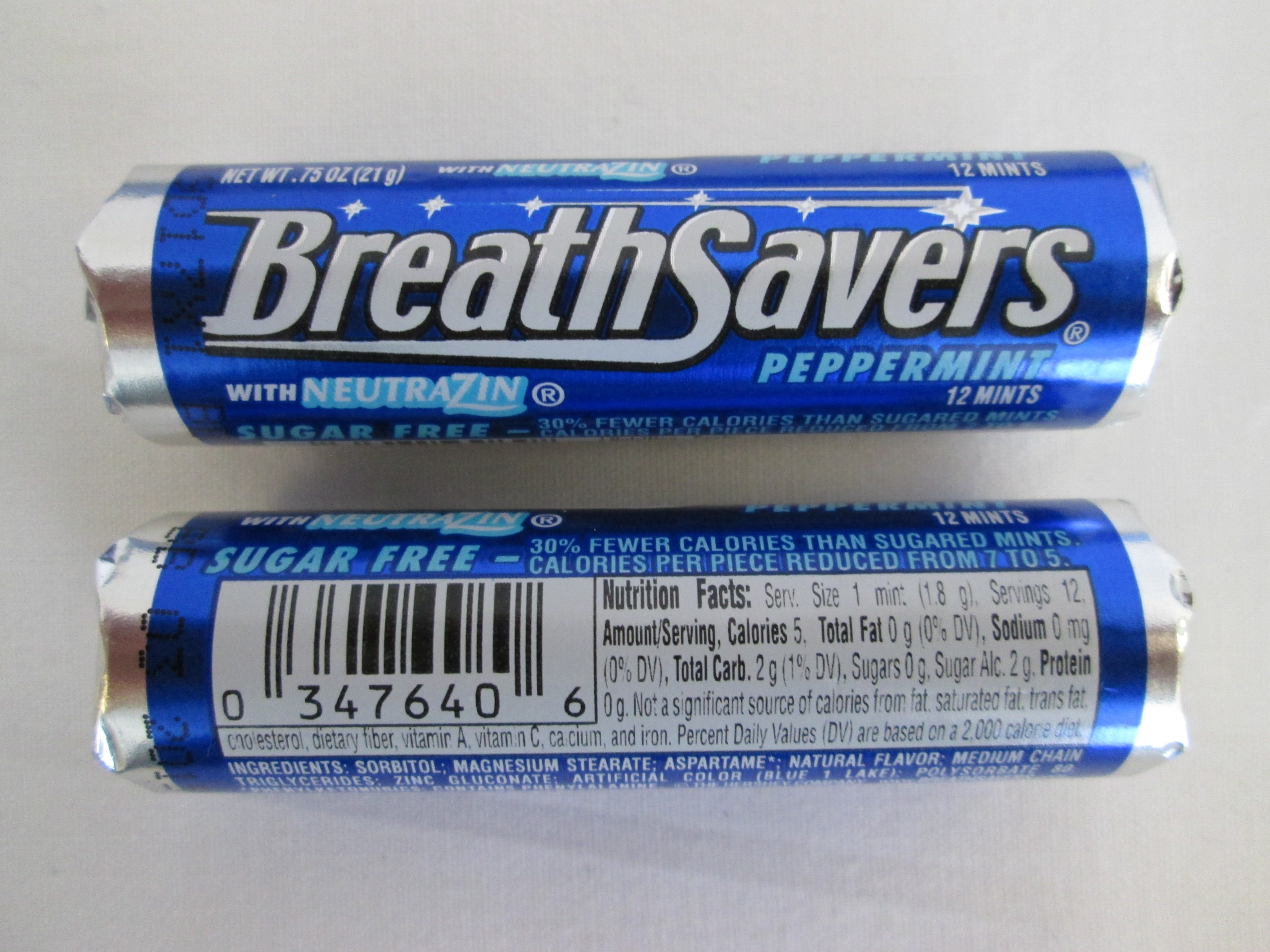 Breathsavers Peppermint Rolled mints, 12 per roll (Pack of 48) by Breath Savers (Image #2)