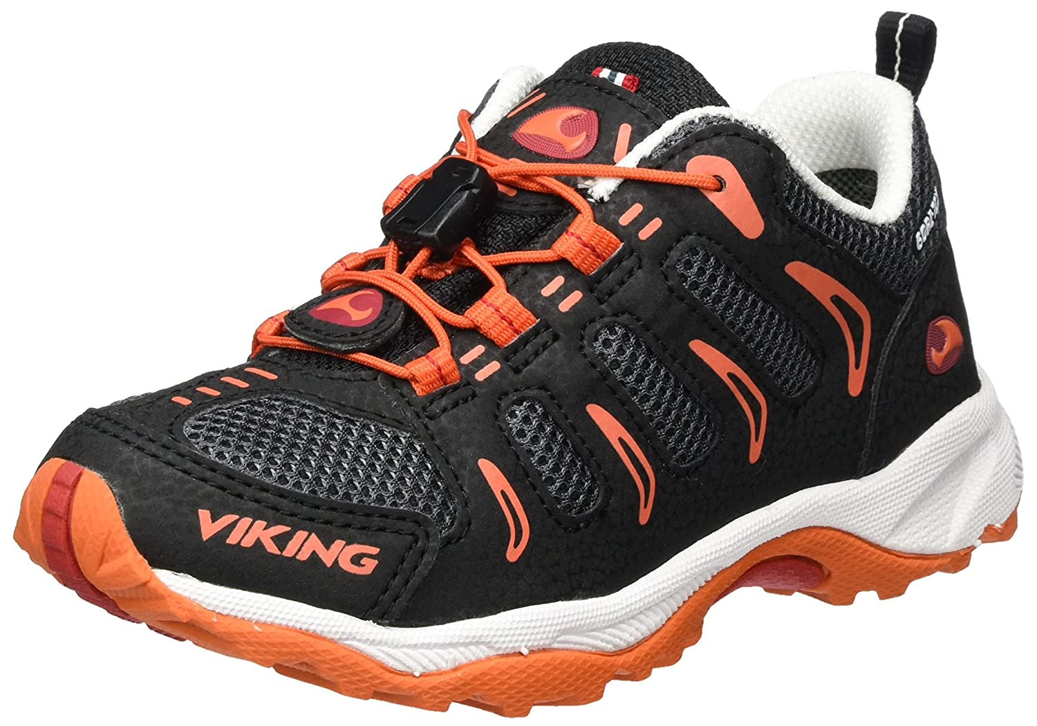 viking Unisex-Kinder Terminator Outdoor Fitnessschuhe Schwarz (Black/Orange) 32 EU 3-42450