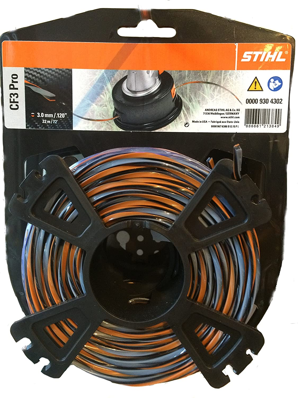 Hilo para cortabordes Stihl 00009304305 CF3 Pro, forma de cruz con parte de carbono, color naranja