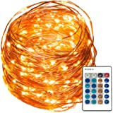 REMZES Starry String Lights: 33 Foot Copper Wire Strand with 100 LED Lights, Remote, AC Adapter, plus LED Tea Candle and LED Balloon Light.100%.