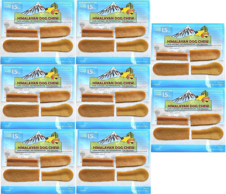 FRESH HIMALAYAN DOG CHEW SMALL 3-4 PIECES HEALTHY NATURAL LONG LASTING TREAT 8 Pack