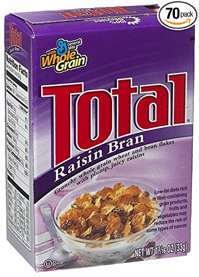 amazon com general mills total raisin bran cereal 0 187 ounce