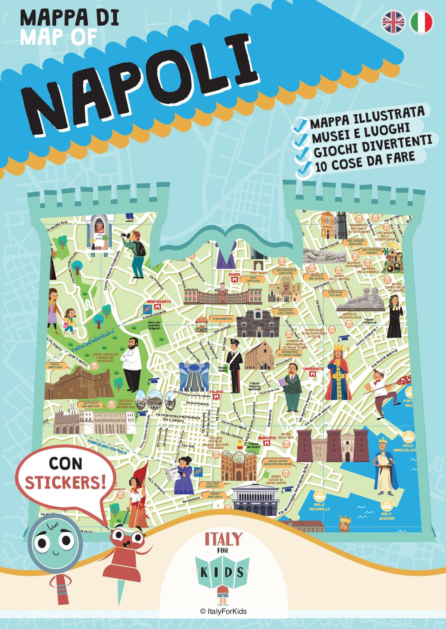 Cartina Napoli.Mappa Di Napoli Con Adesivi Sara Dania Donata Piva M