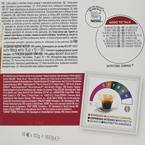 Nescafé Dolce Gusto Americano 16 bebidas – 5.64 oz (caja de ...