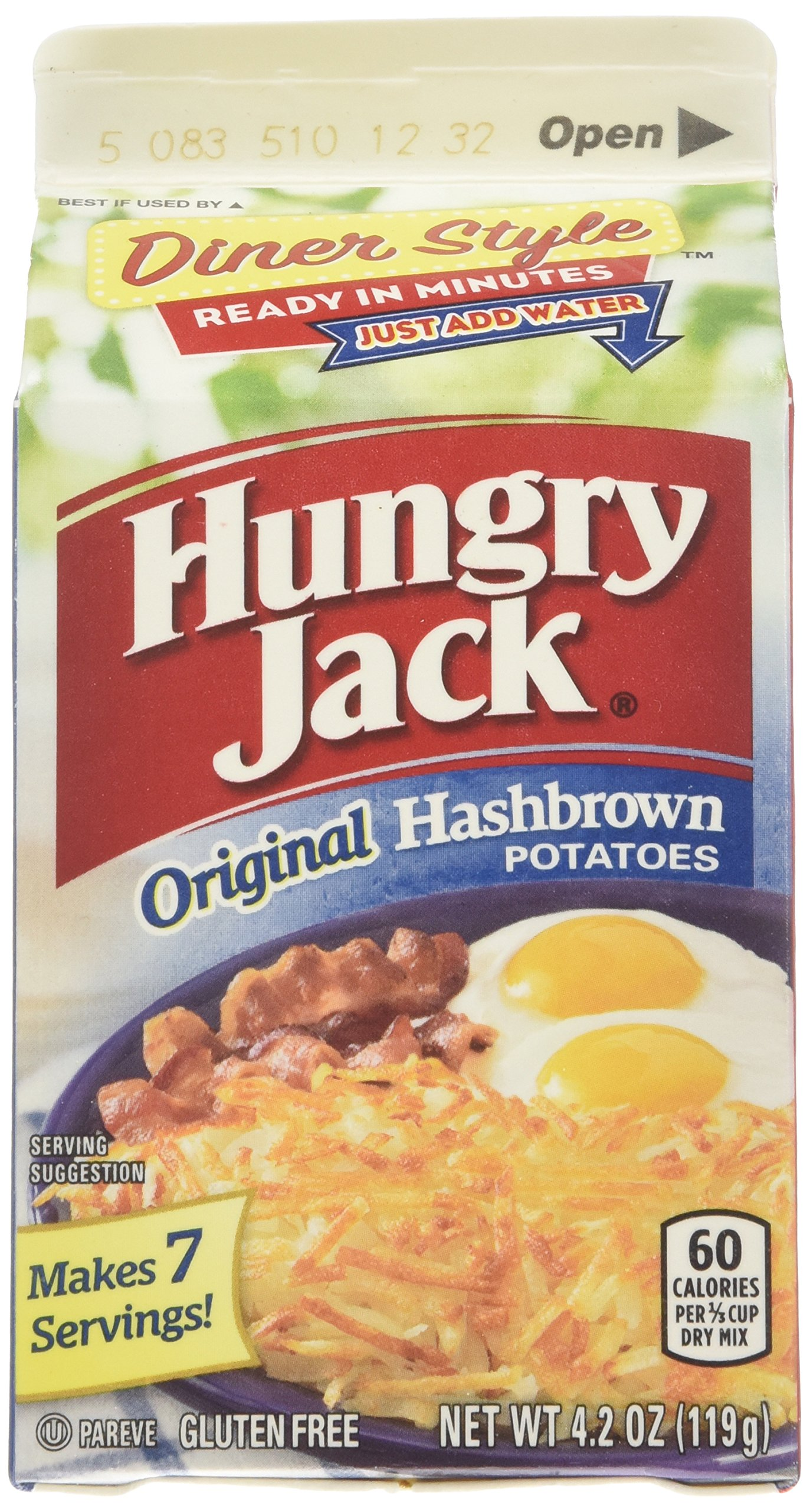 Hungry Jack Premium Hashbrown Potatoes 4.2 oz (Pack of 8)