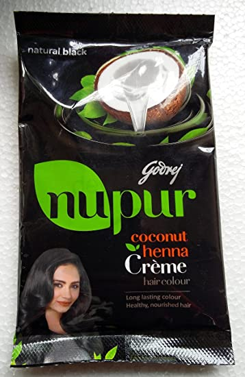 Amazon Com Godrej Nupur Coconut Henna Creme Natural Black Hair