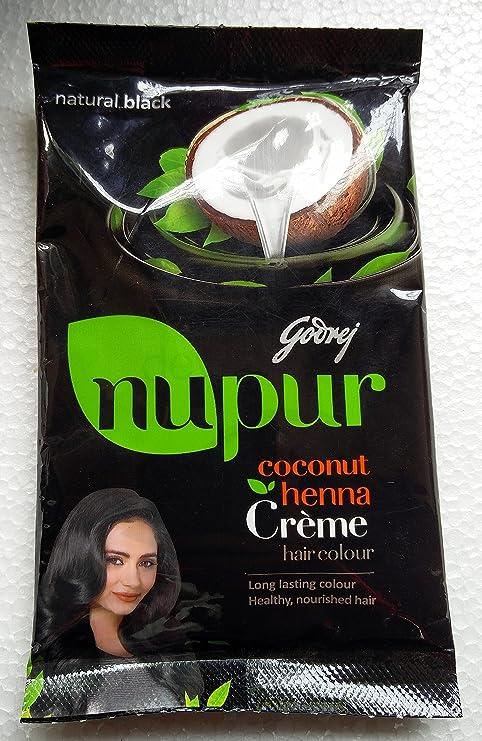 Buy Godrej Nupur Coconut Henna Creme Hair Colour Natural Black