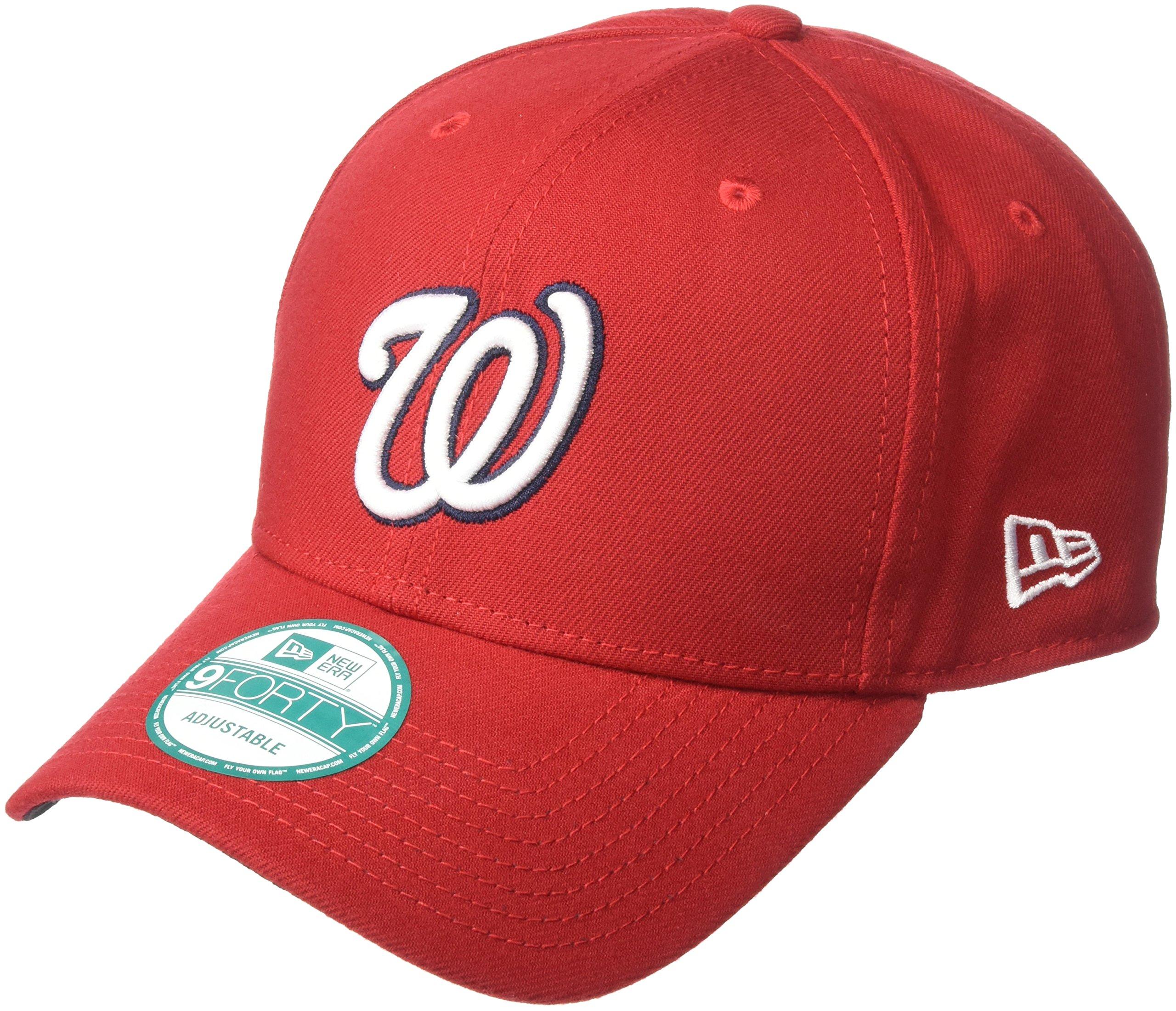 official photos 26598 b3c0f New Era MLB The League Washington Nationals Game 9Forty Adjustable Cap,  Scarlet, Baseball Caps - Amazon Canada