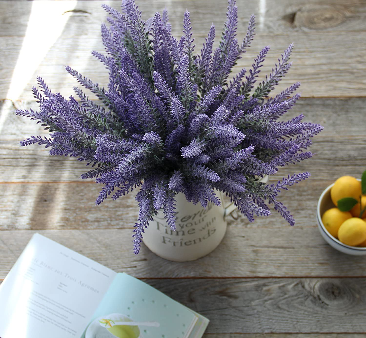 Amazon artificial lavender flowers large pieces to make a amazon artificial lavender flowers large pieces to make a bountiful flower arrangement nearly natural fake plant to brighten up your home party and junglespirit Image collections