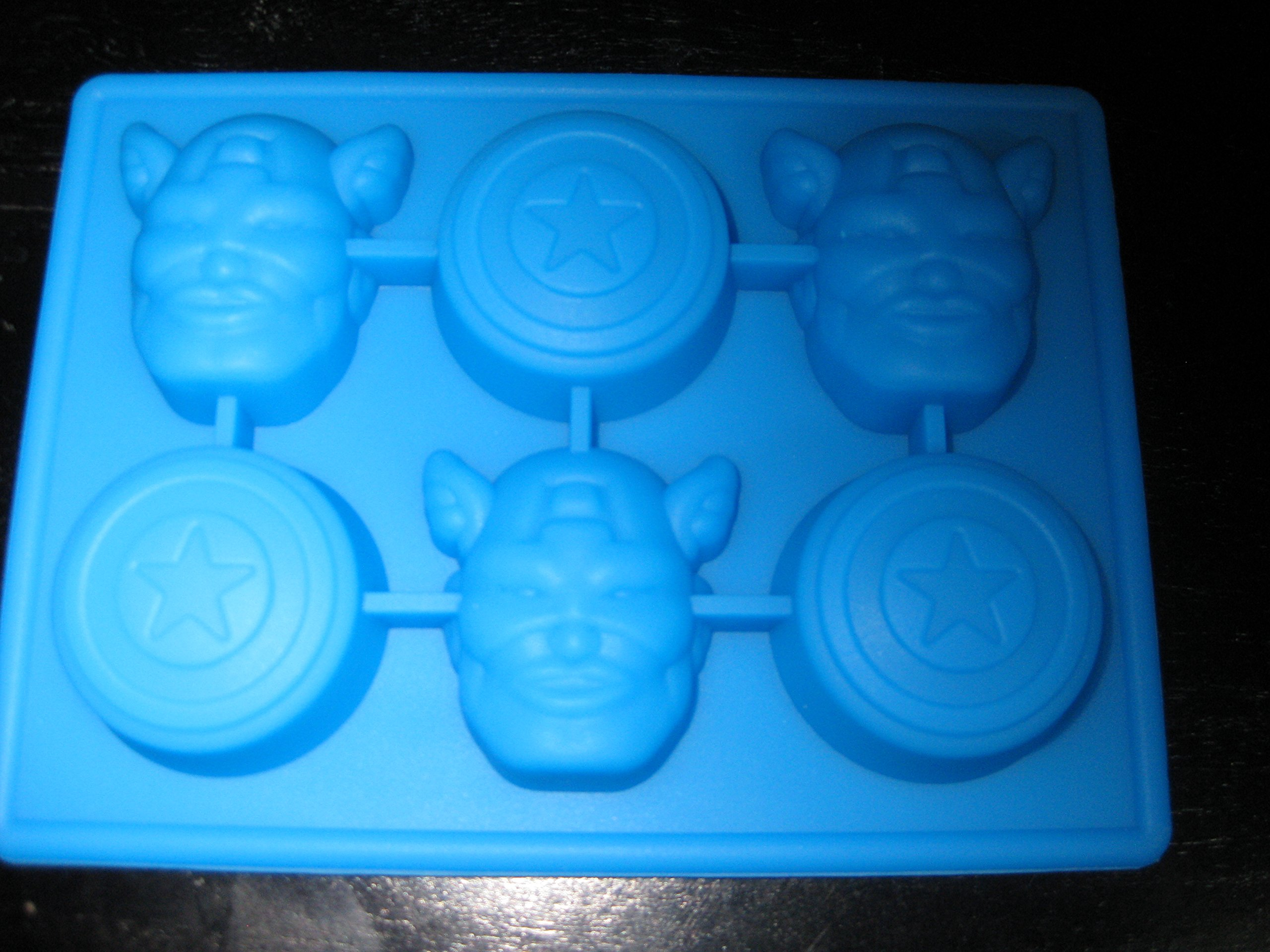 Captain America the Avengers Silicone Candy Mold Chocolate Tray