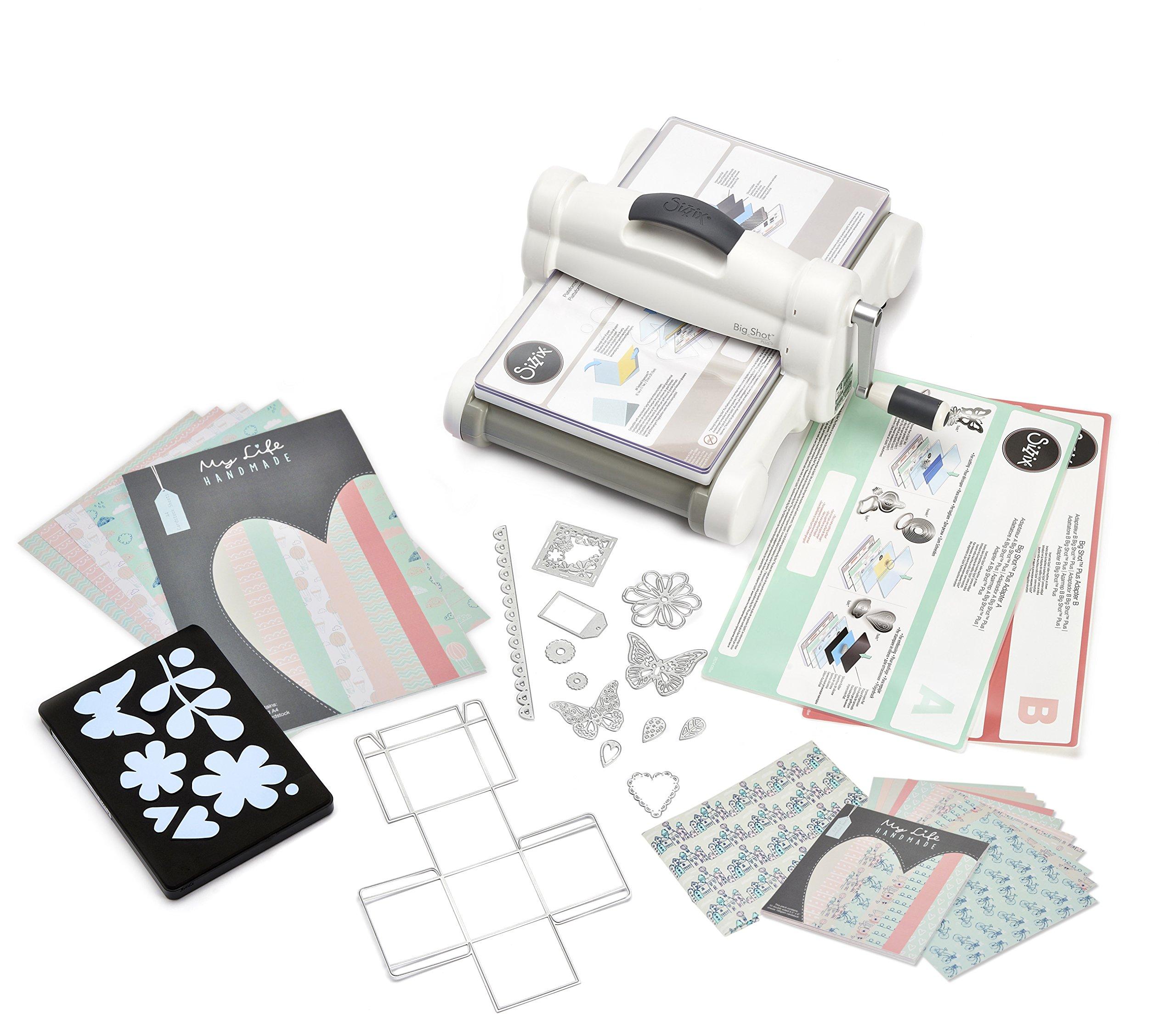 NEW Sizzix Big Shot Plus Die Cutting Machine Starter Kit Bundle Arts Crafts