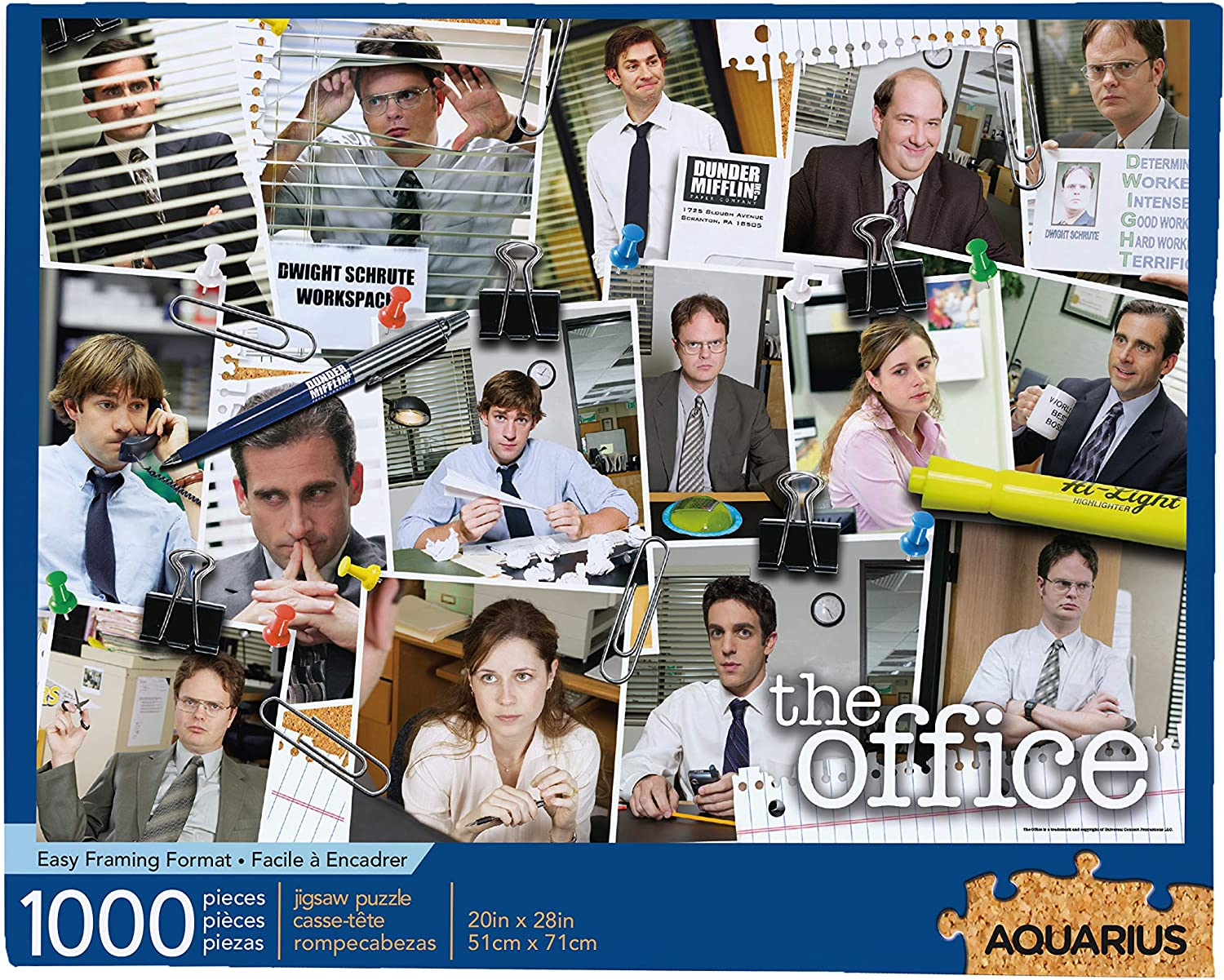 AQUARIUS The Office Cast Collage Jigsaw Puzzle