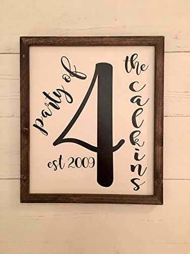 Amazon.com: Family Number Sign, Scrabble Tile Wall Art, Personalized ...