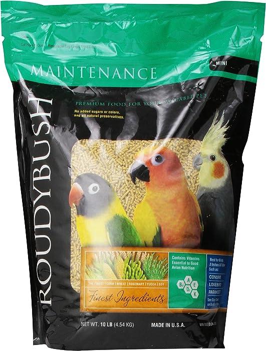 RoudyBush Daily Maintenance Bird Food, Mini, 10-Pound
