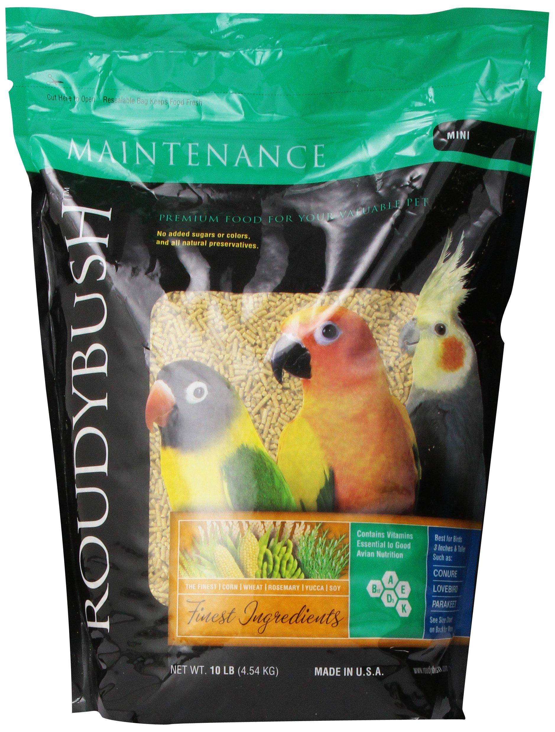 RoudyBush Daily Maintenance Bird Food, Mini, 10-Pound by RoudyBush